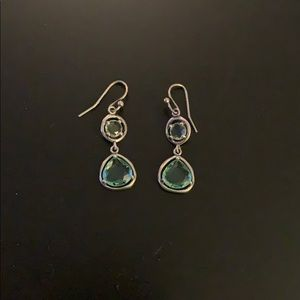 Silpada Earrings with Green Stones